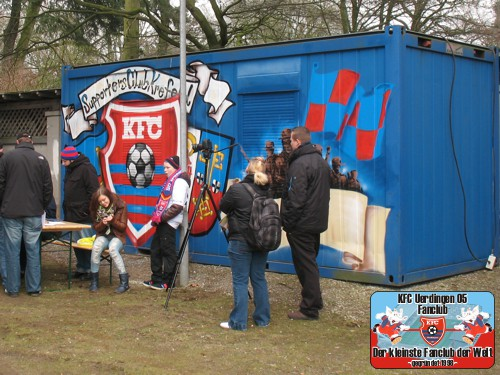 Fancontainer des Supporters Club Krefeld